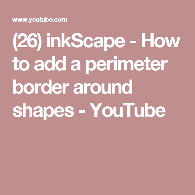 Cricut Card Making Ideas Youtube Part - 26: Cards · (26) InkScape - How To Add A Perimeter Border Around Shapes -  YouTube