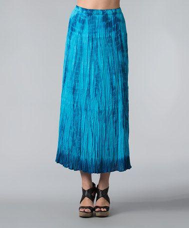 Another great find on #zulily! Bahama Blue Ombré Maxi Skirt - Women #zulilyfinds
