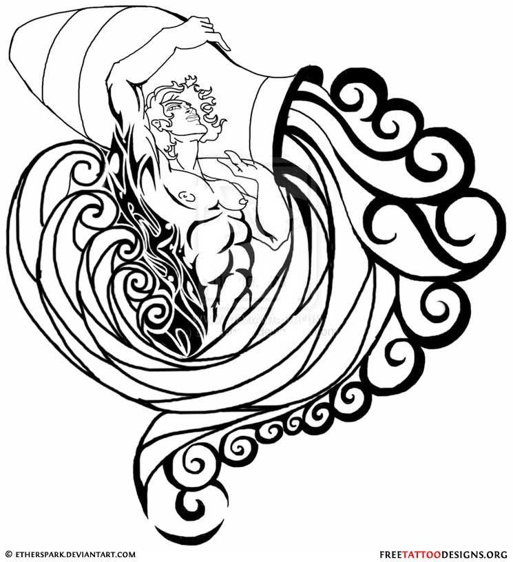 e293086c11eb5 35 Cool Aquarius Tattoo Designs Sign Tattoos   Aquarius Tattoos ...