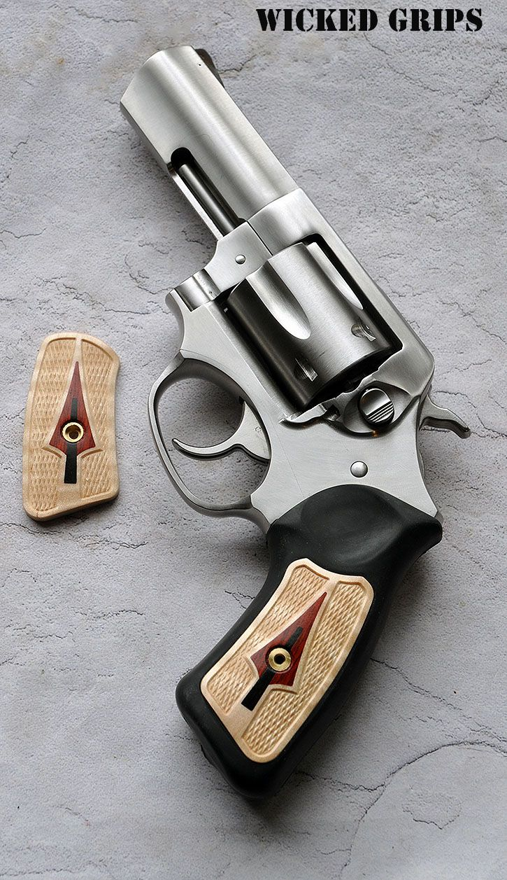 ALL NEW WICKED GRIPS WOOD RUGER SP101 SERIES! SET 12 CURLY MAPLE W/ COCO AND EBONY INLAY - Wicked Grips