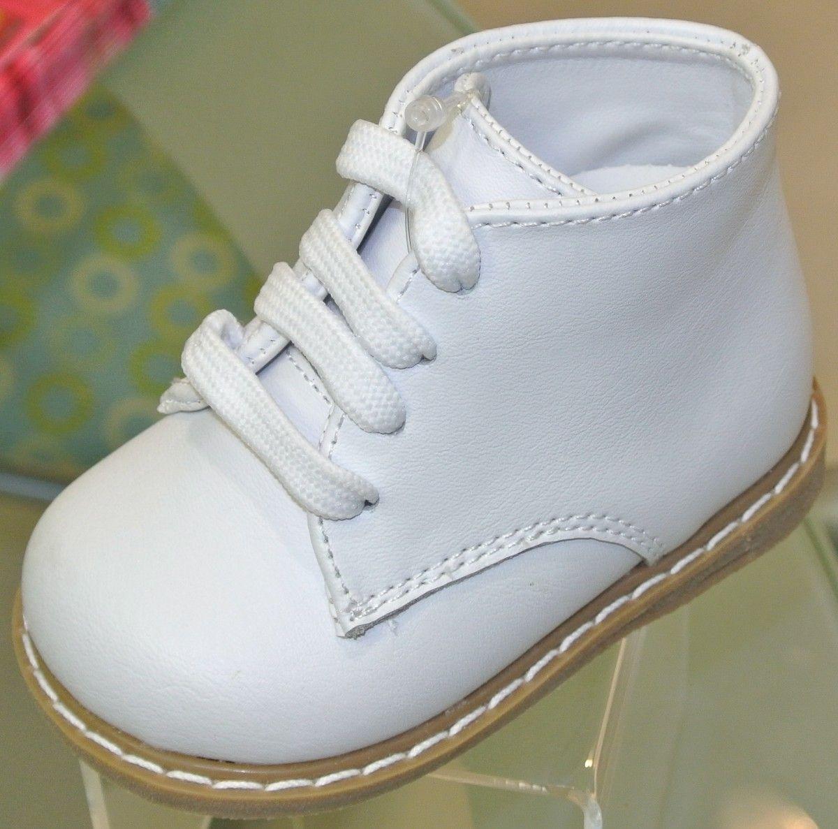 infant white walking shoes