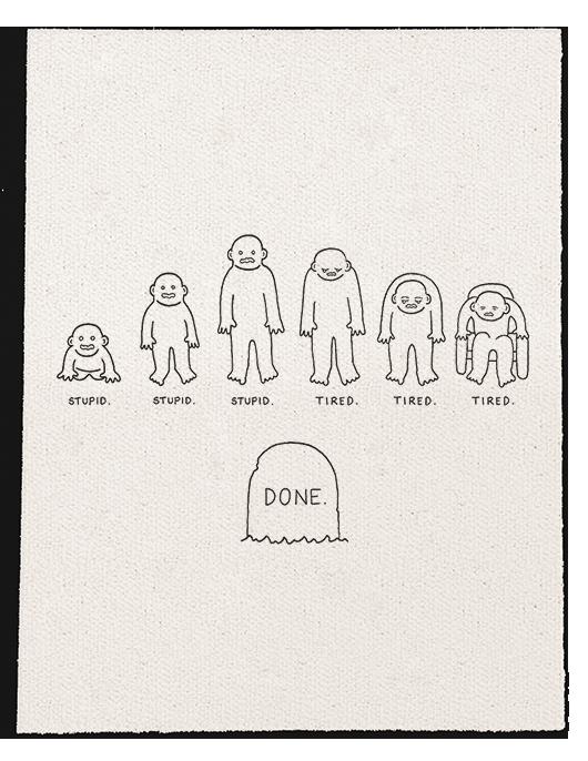 Done Words Sketch Book Conceptual Illustration