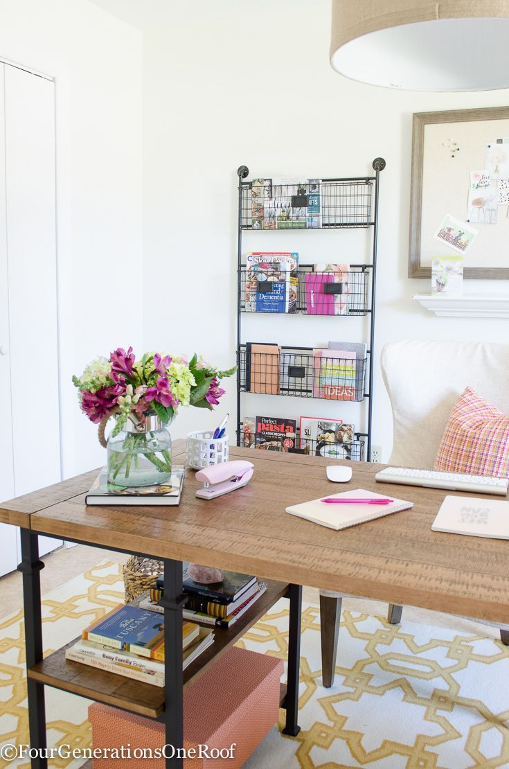 Colorful Modern Farmhouse Office Decorating Ideas How To Create A Modern Farmhouse Office Farmhouse Office Decor Home Office Decor Farmhouse Office Storage