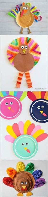 These Turkey Crafts for Kids Make Thanksgiving!