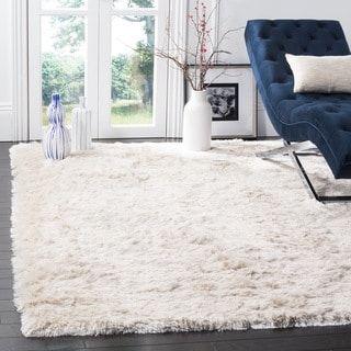 Safavieh Paris Shag Danara Glamour Solid Polyester Rug Cool Rugs Ivory Rug Handmade Home Decor