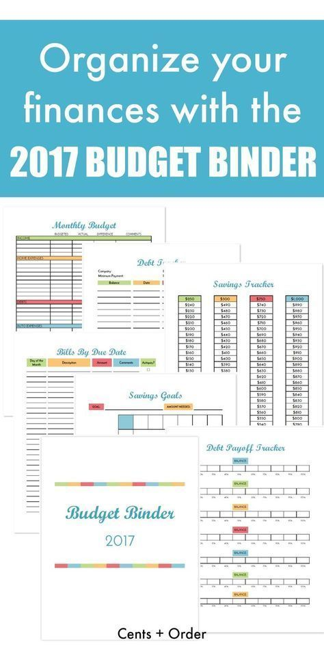2017 Budget Binder Printable How To Organize Your Finances - Wedding Budget Excel Spreadsheet
