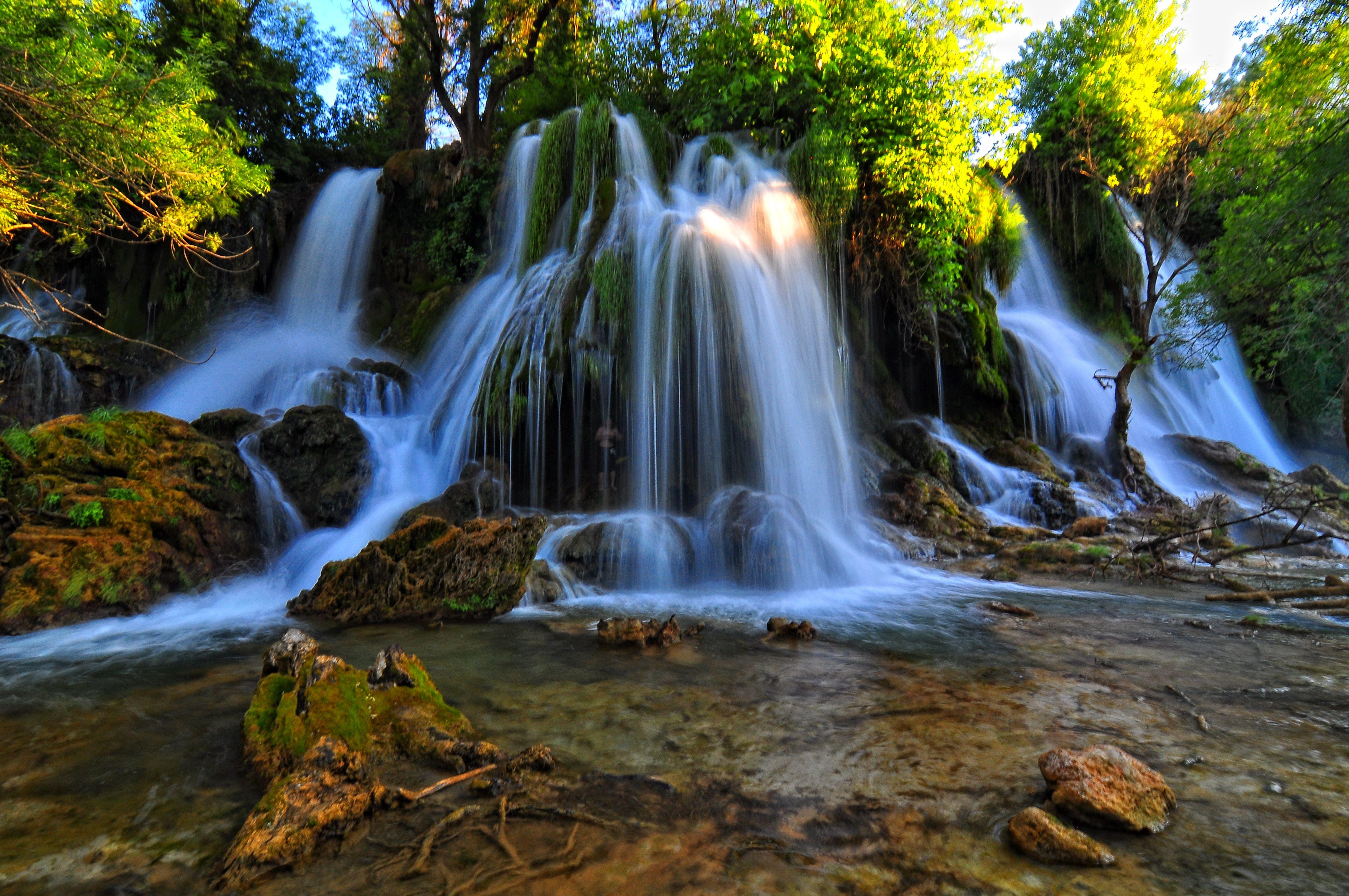Niagara Falls At Night Wallpaper Kravice Waterfall On The Trebižat River In Bosnia And