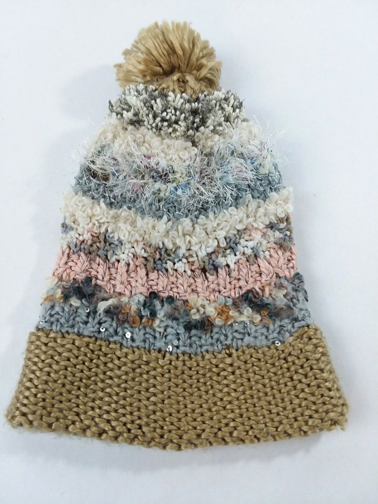 Steve Madden Beanie PomPom Hat Fluffy Pink Blue White Bronz Silver Sequin  Plush  fashion  clothing  shoes  accessories  womensaccessories  hats (ebay  link) e694fe11df3