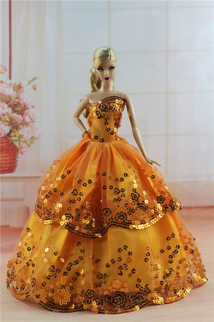 Fashion Princess Polka-Dots Print Dress Clothes//Gown+Hat For 11.5in.Doll S123R