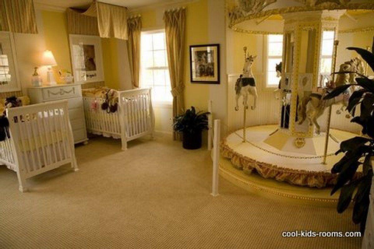 luxurious beige twin baby bedroom baby room nursery decorating ideas with indoor merry go