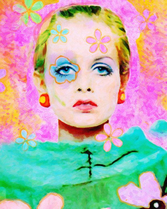 Twiggy Art Fashion by trolleyla
