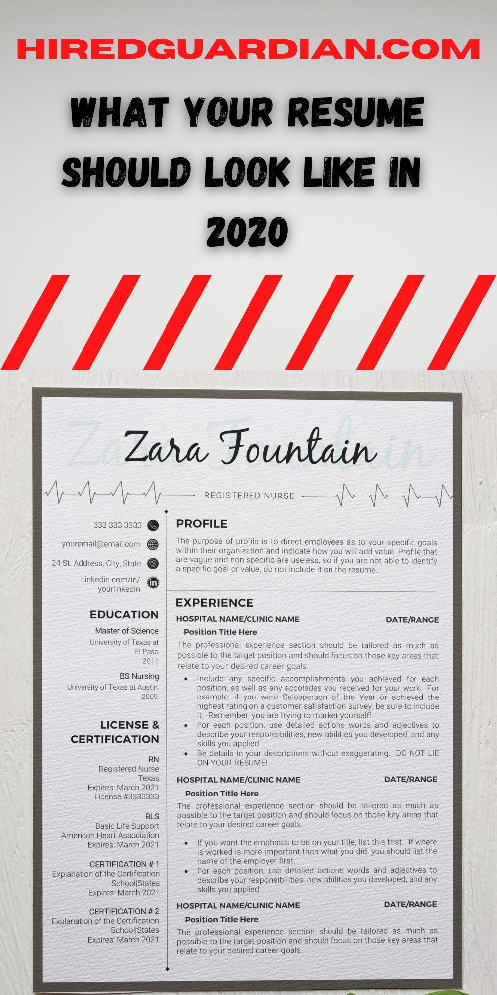 Registered Nurse Resume Template Nurse Cv Template For Word Etsy In 2020 Nursing Resume Template Rn Resume Template Registered Nurse Resume