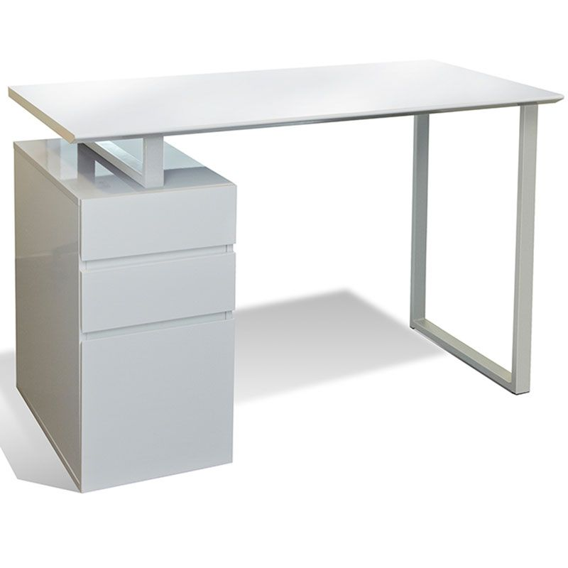 200 Series 48 Modern Study Desk File White Writing Desk With Drawers Desk With Drawers Modern White Desk
