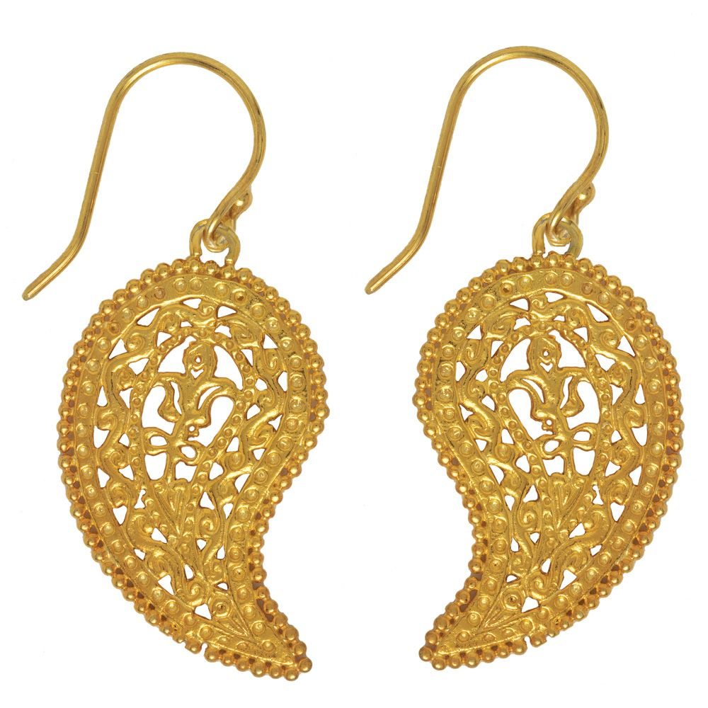Byzantine Paisley Pendant Earrings - The Met Store