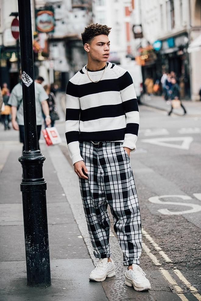 street style la fashion week homme printemps t 2018 de londres inspirations looks outfits. Black Bedroom Furniture Sets. Home Design Ideas