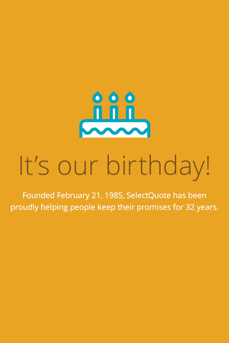 Select Quote Custom Happy 32Nd Birthday Selectquote  Life Insurance  Pinterest Decorating Inspiration