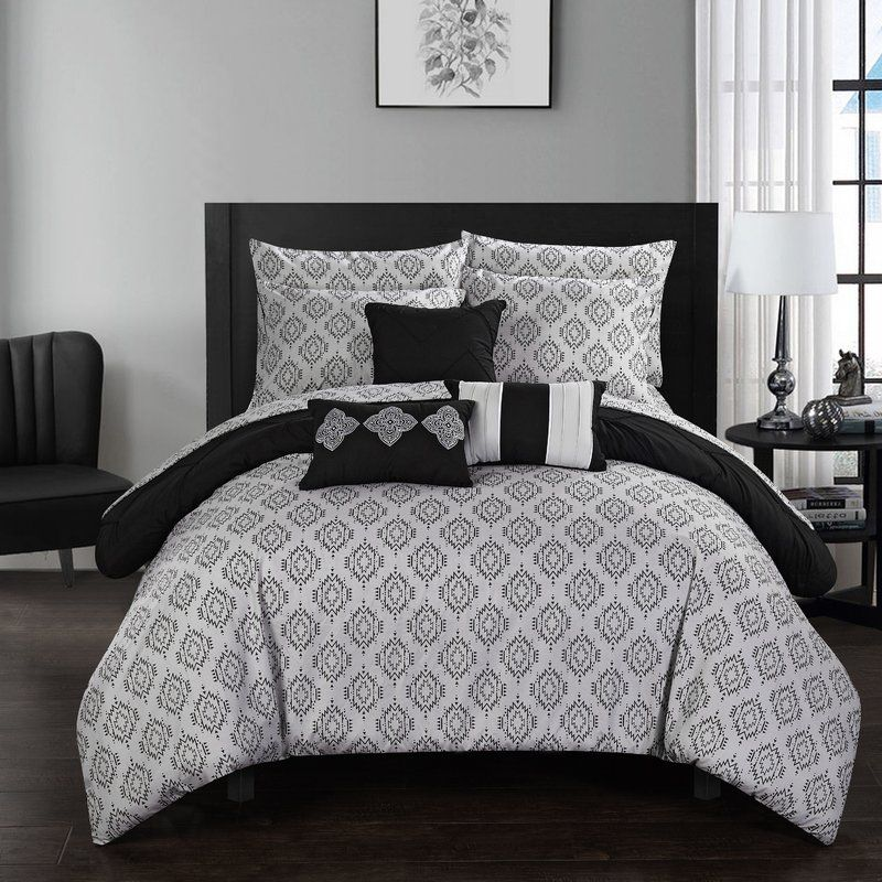 Maddie 10 Piece Reversible Comforter Set Comforter sets