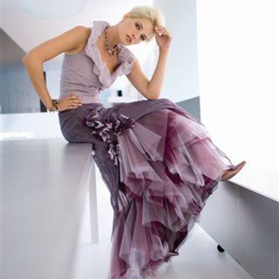 At This Moment Low Back Wedding Dress Is A Pop Trend Among Worldwide Brides Or You Can Choose Soft Purple Gown Designed By Atelier Aimee