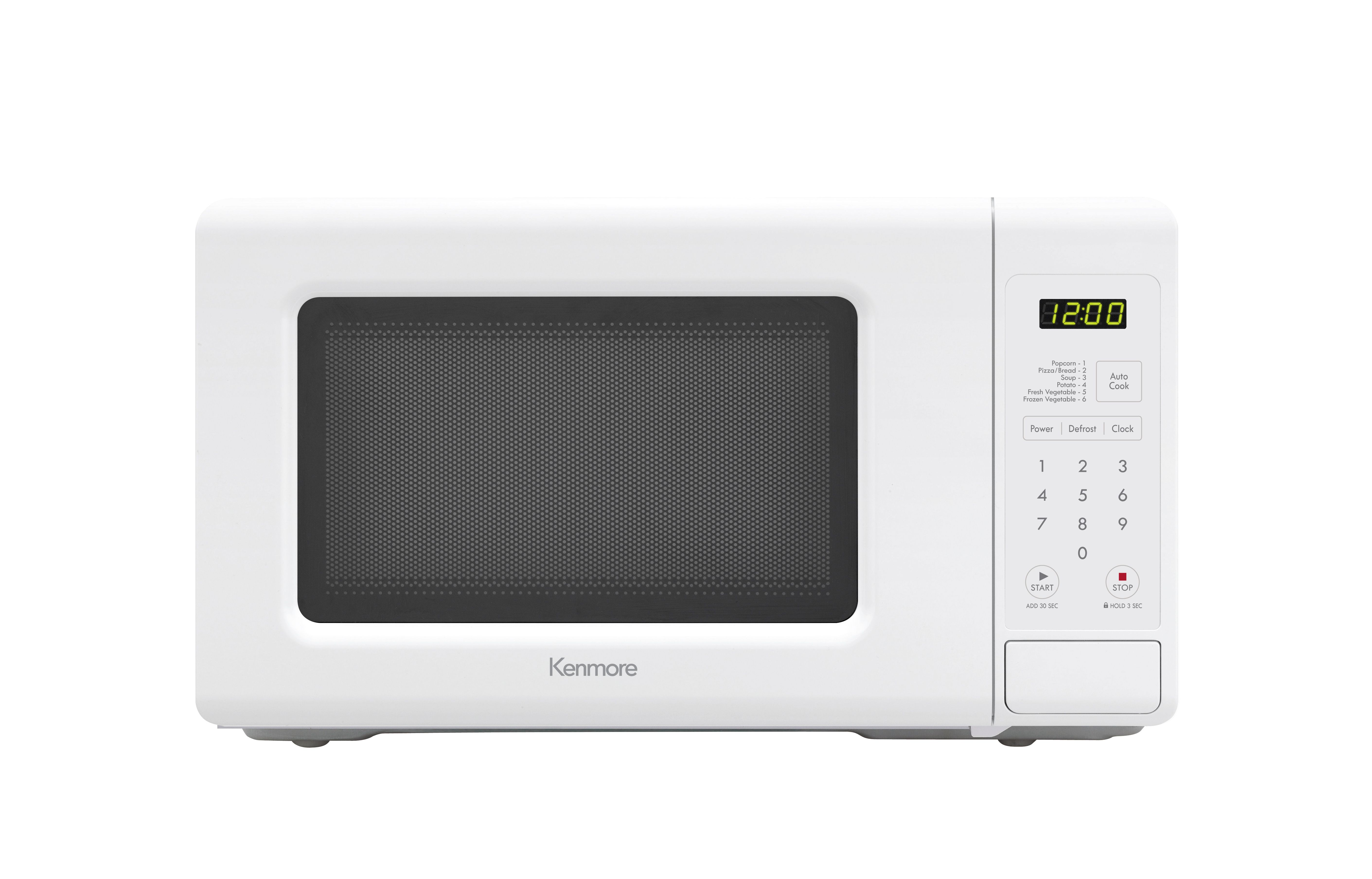 Kenmore 70712 0 7 Cu Ft Countertop Microwave Oven White Black