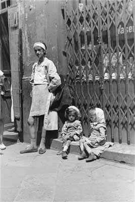 Under harsh circumstances, the children of the ghetto suffered horribly.