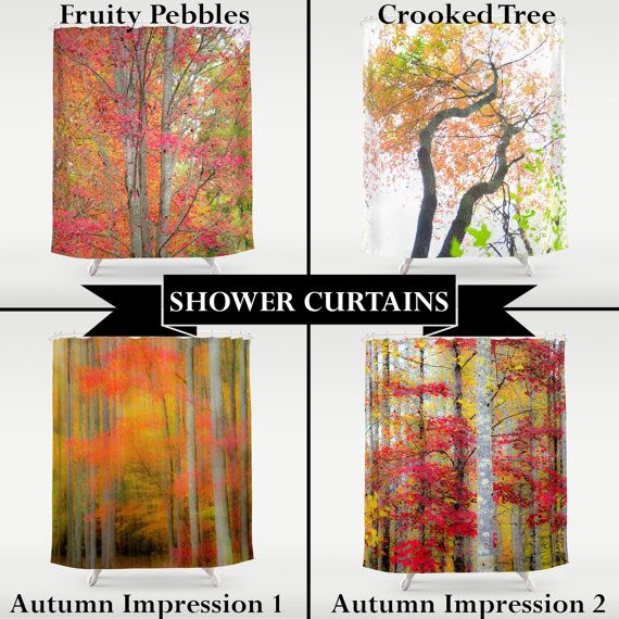 Shower Curtain, Autumn Shower, Bathroom Decor, Photo Shower Curtain ...