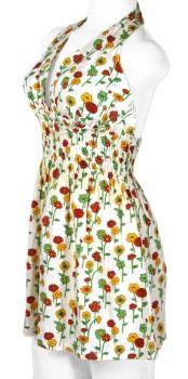 Vintage Halter Mini Dress