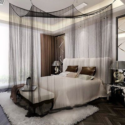 details zu moskitonetz betthimmel fliegennetz m ckennetz. Black Bedroom Furniture Sets. Home Design Ideas