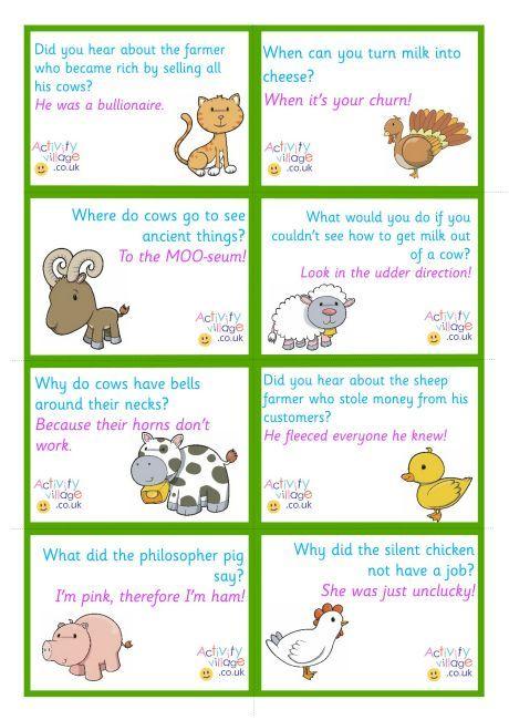 Farm Animal Jokes Lunch Box Notes Farm Jokes Lunchbox Jokes Jokes For Kids