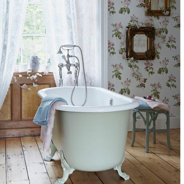 badezimmer wandgestaltung durch tapeten - Wandgestaltung Mit Tapeten