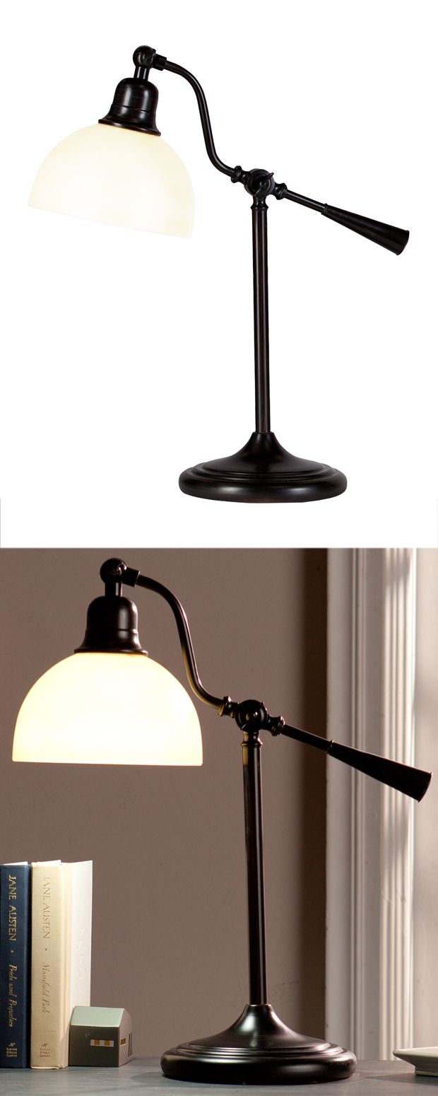 The Barrister's Task Lamp delivers a quaint, charming motif dating back to turn-of-the-century offices.…