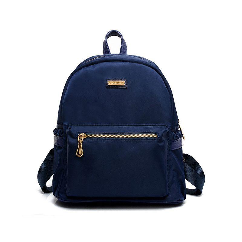 e0d1b446ec9 Women Nylon Backpacks College School Bag Waterproof Backpacking ...