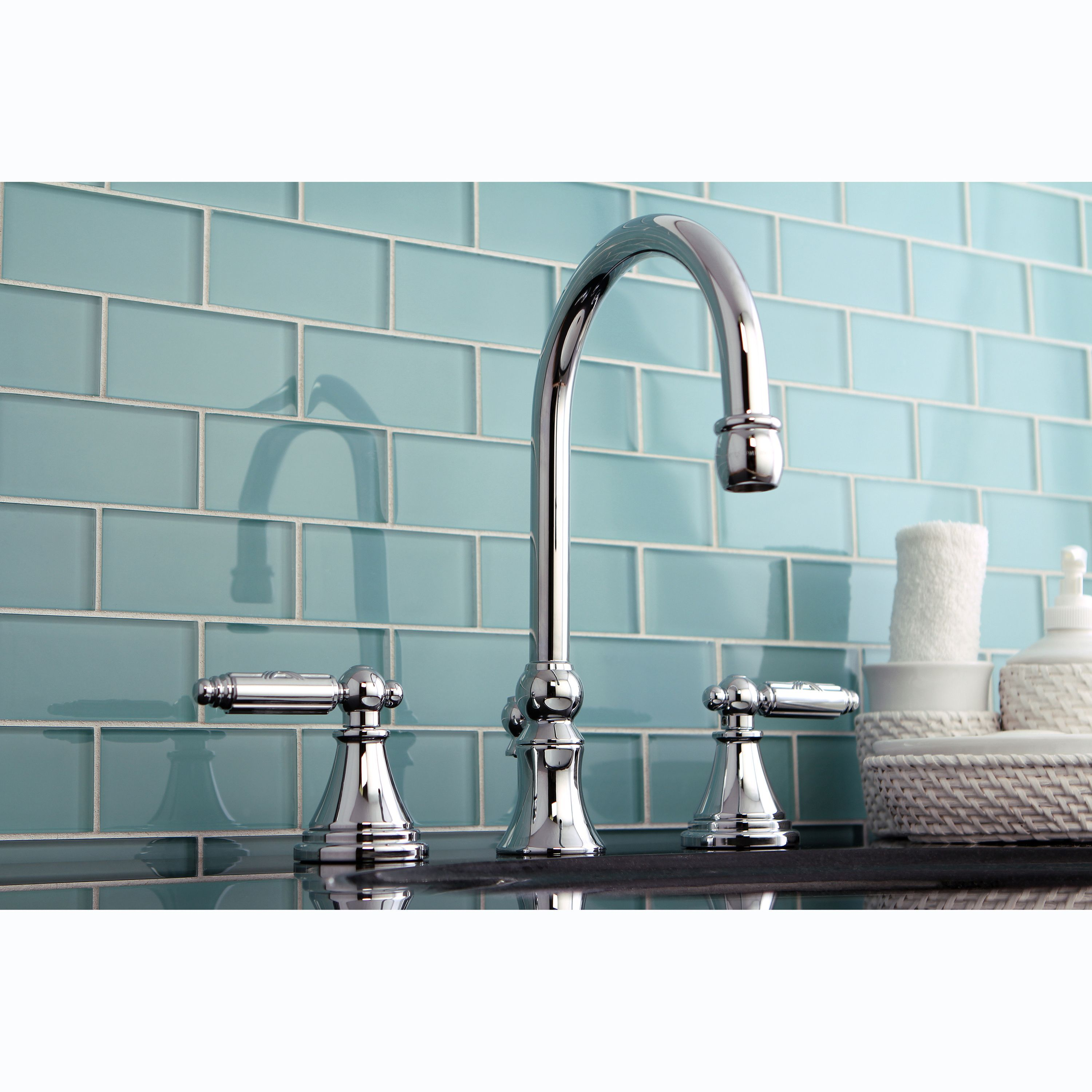 Three-Hole Chrome Widespread Bathroom Faucet - Overstock™ Shopping ...