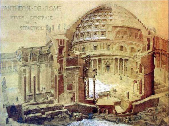 Pantheon of rome architettura romana roma antica e for Architettura e design roma