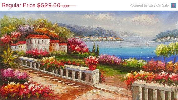 Sale Original Oil Painting Made to ORDER Water by ArtPaintingsMP