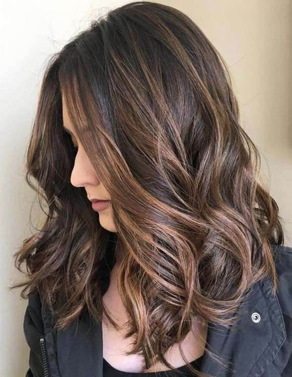 Brown Hair With Chocolate Highlights 2019 Hair Styles Pinterest