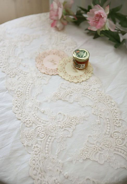 off white lace trim retro embroidery, mesh lace trim with double motif, embroidered tulle lace with scallops, bridal lace, curtain lace