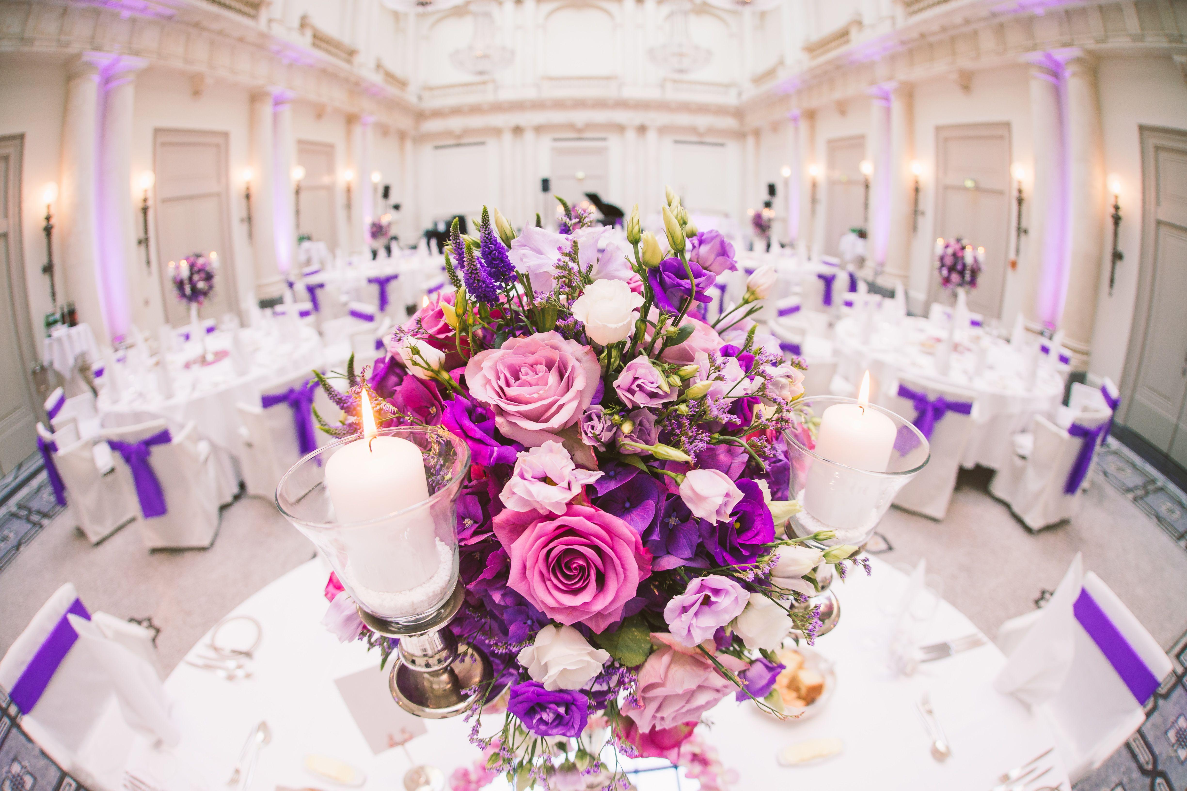 Tischdekoration Hochzeit Lila 9 Hochzeitsfeier Tischdeko Blumen