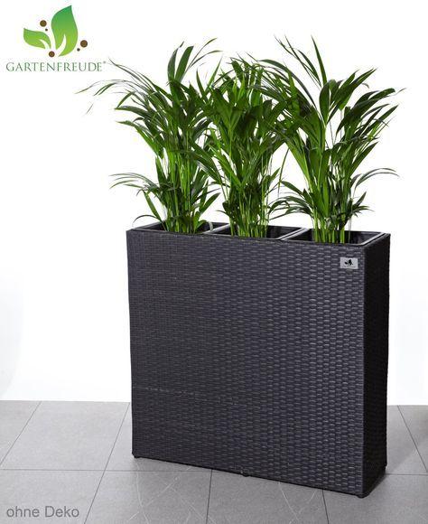 Gartenfreude Pflanzkubel Raumteiler Polyrattan Inkl 3