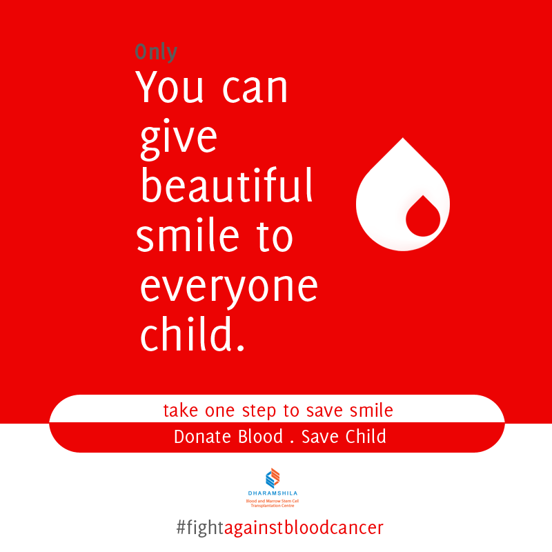 You can give beautiful smile to everyone child... #fightagainstbloodcancer