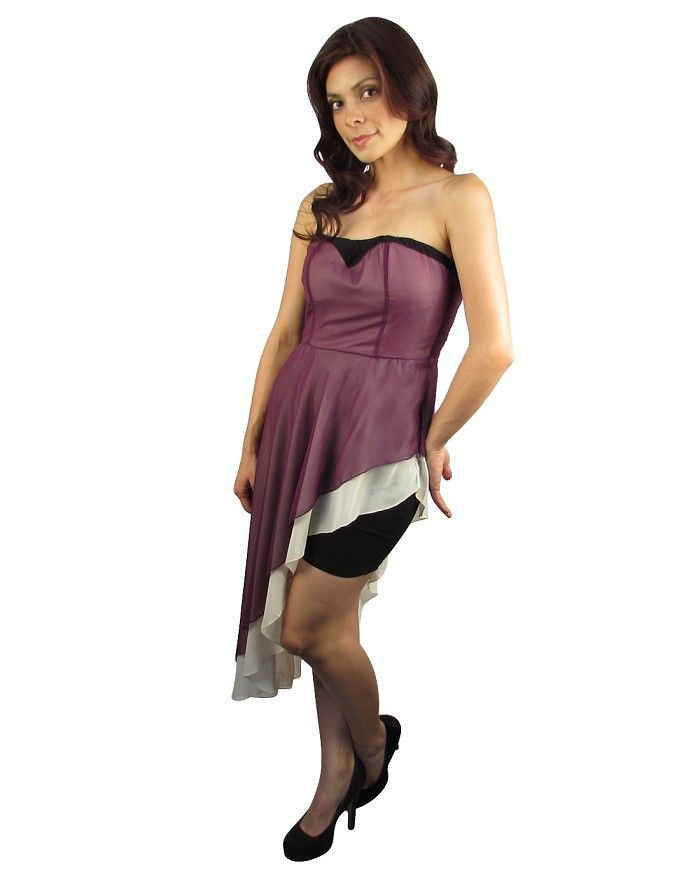 High cut strapless dress Is Just $1.99 #affordable plus size ...