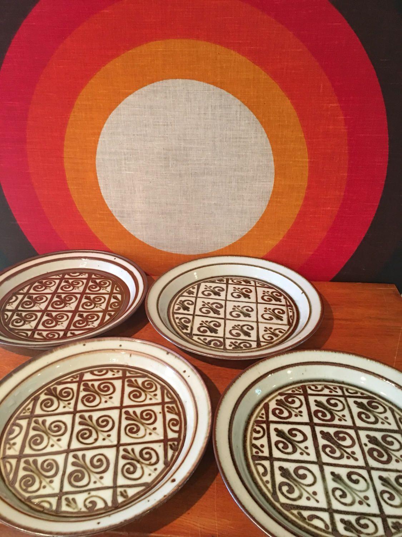 Vintage Dansk Fleur de Lis Dinner Plates - set of 4 - Designed by Niels Refsgaard Dansk Brown Mist Dinner Plate Dansk Denmark NR & Vintage Dansk Fleur de Lis Dinner Plates - set of 4 - Designed by ...