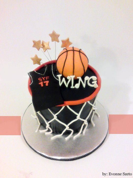 Magnificent Basket Ball Cake 18Th Birthday Cake For Guys Cake Funny Birthday Cards Online Benoljebrpdamsfinfo