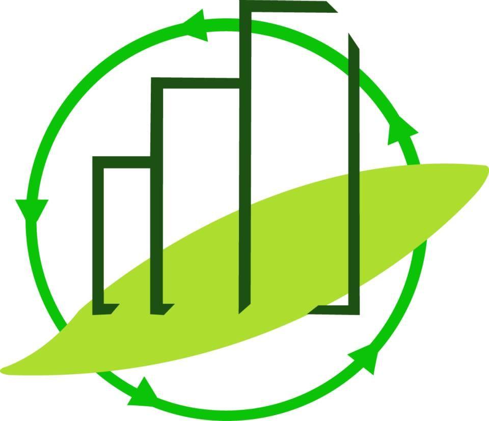 Este logosimbolo trae a colación la unión de lo natural y lo industrial, mostrando e indicando el uso de materiales reciclables para construir un futuro mejor.