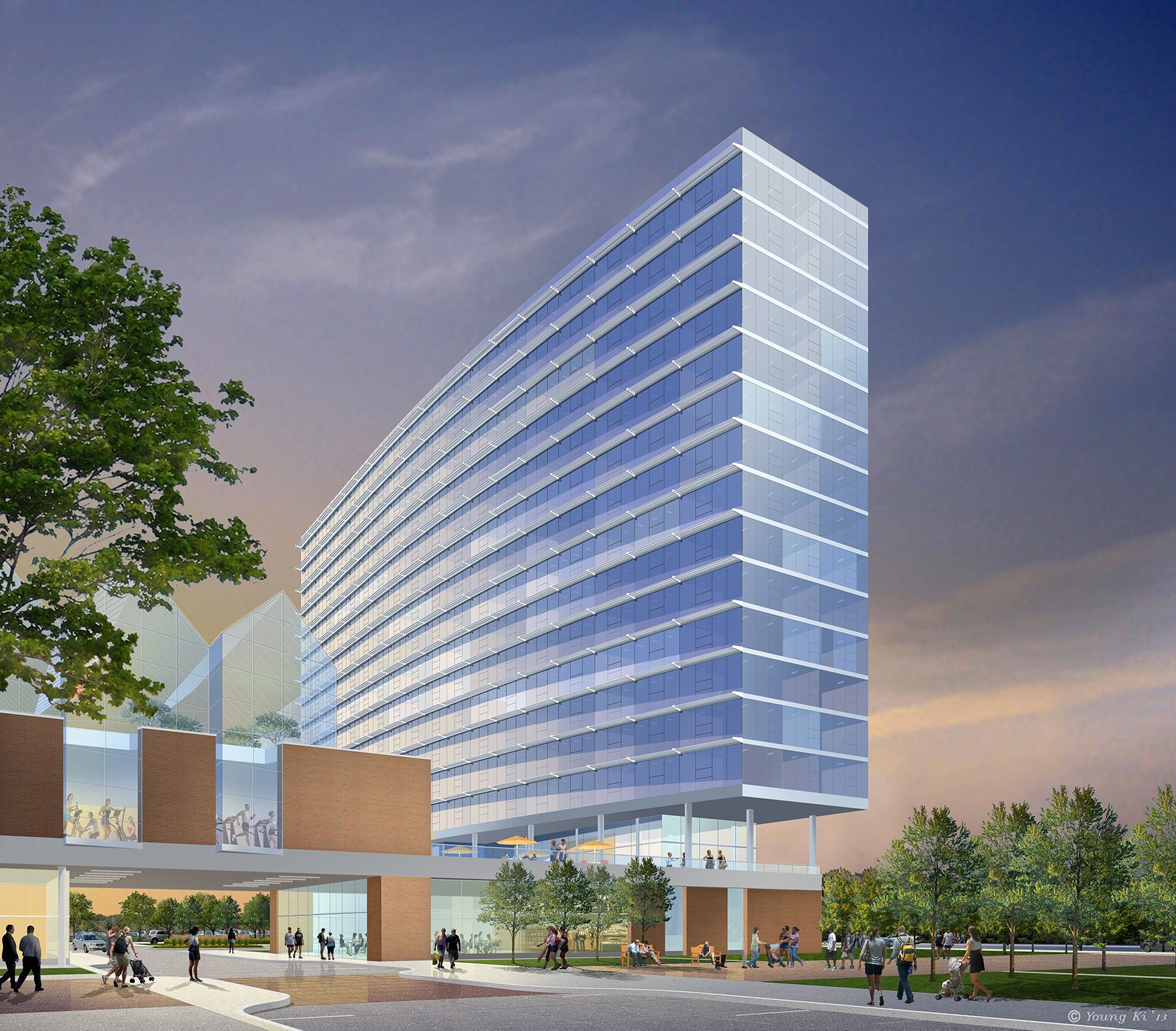 Illinois Medical District Gateway Young Professionals Housing Rendering Medical District Skyscraper House