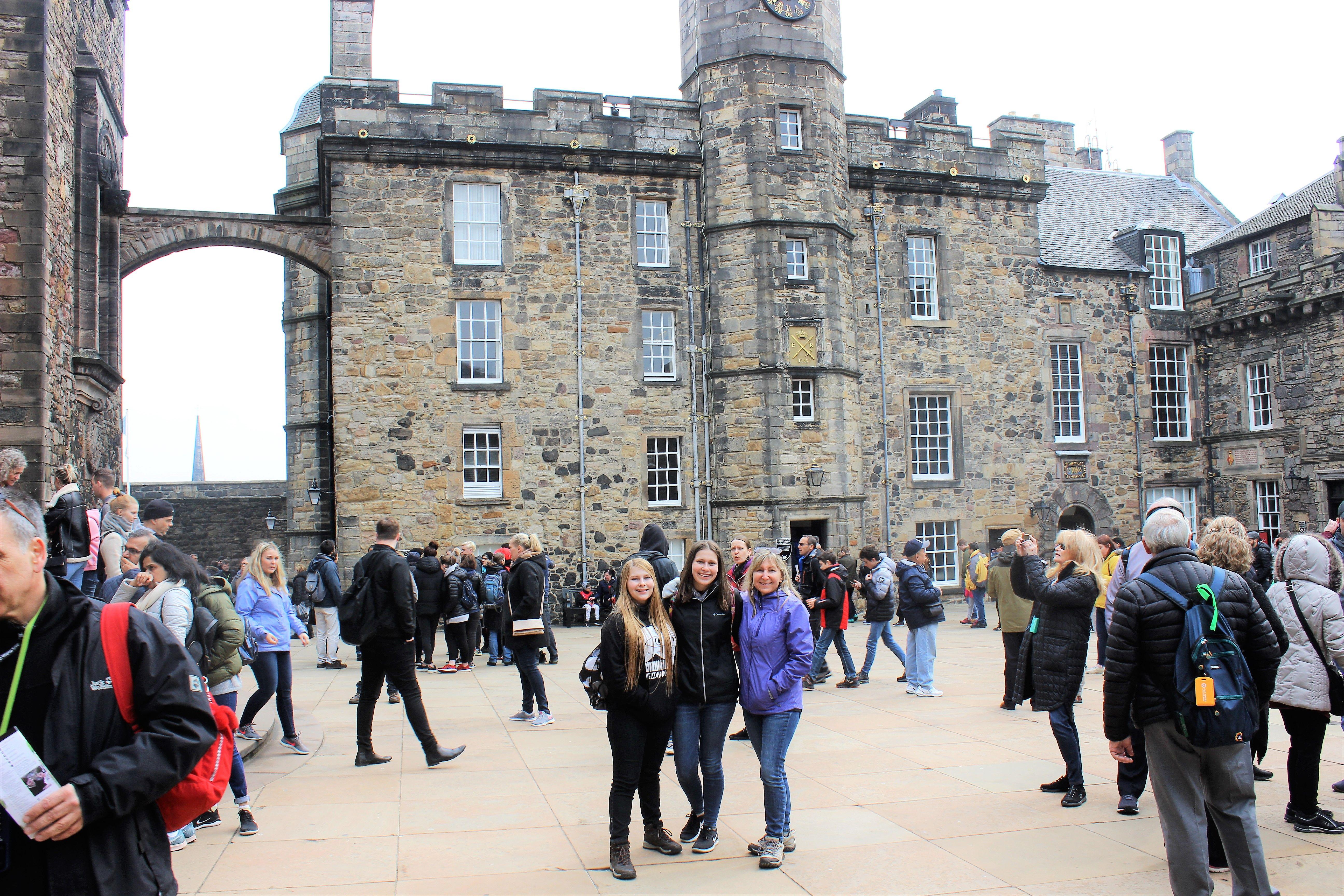 April 2019 Edinburgh Castle Courtyard Edinburgh Scotland