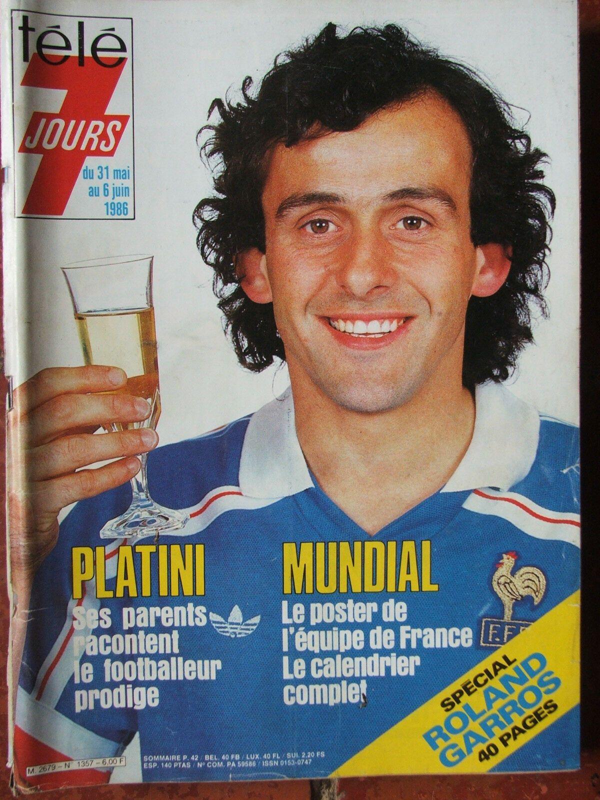 Détails sur TELE 7 JOURS n° 1357 (6 juin 1986) Platini