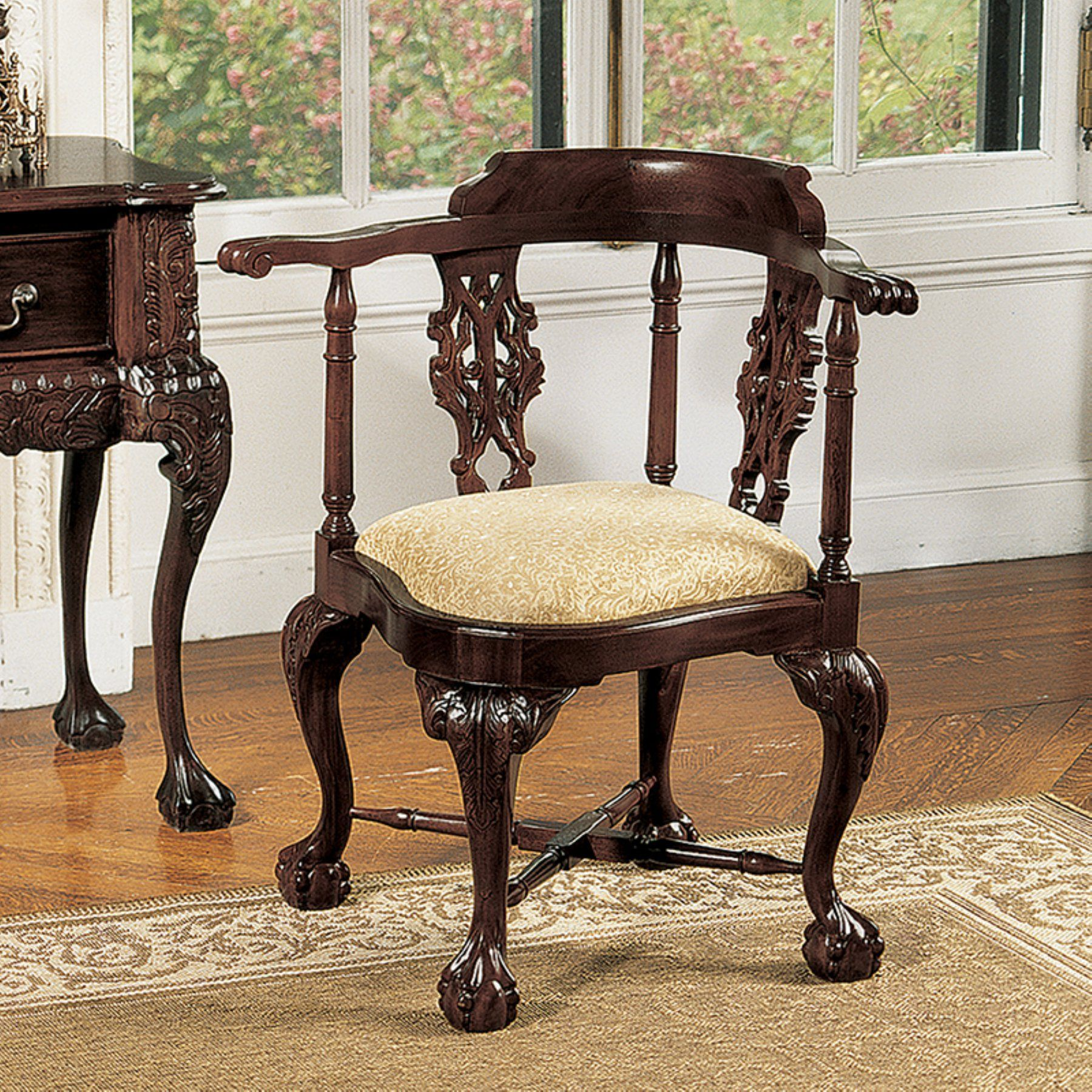design toscano chippendale corner chair af1029 products in 2019 rh pinterest com