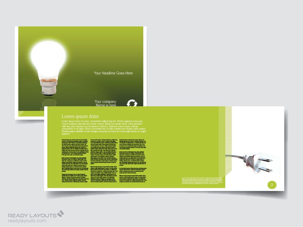 Awesome Marketing Brochure Templates Set Check More At Http - Landscape brochure template