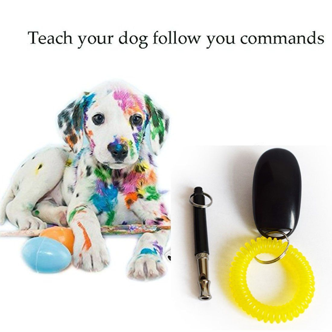 Uvolol Dog Whistle Clicker Kit To Stop Barking With Adjustable