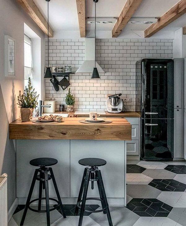 Diferencia entre retro y vintage decoraci n cocinas de for Cocinas pequenas de departamentos
